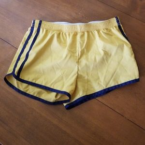 Mossimo deep mustard yellow xs workout shorts